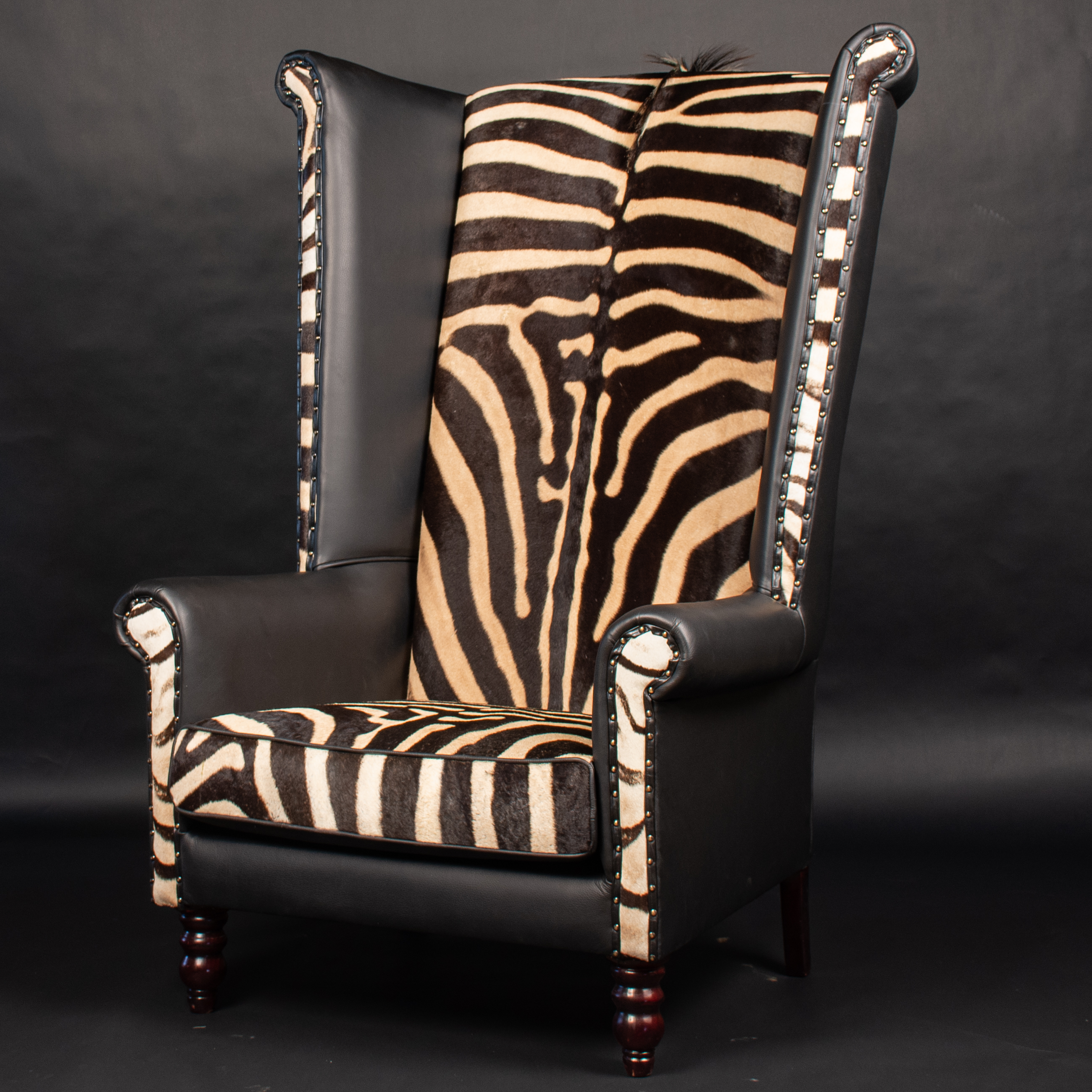 Zebra-Wingback-Chair