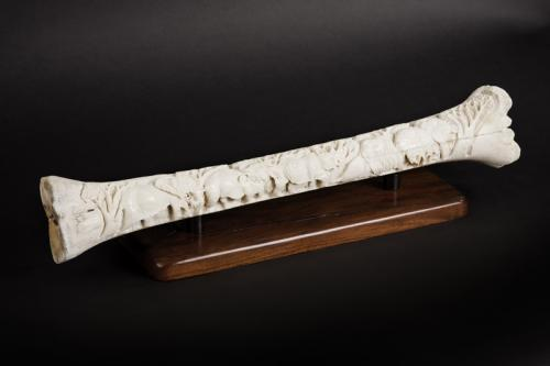 Giraffe bone carved angled