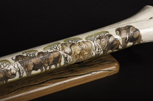 Giraffe bone etched detail