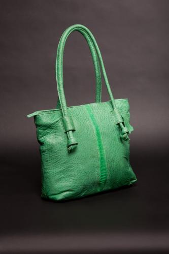 Green Ostrich handbag