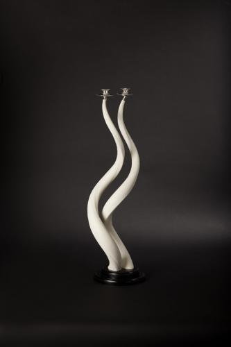 Kudu core candle holders