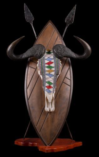 Blue-Wildebeest-Beaded-Skull
