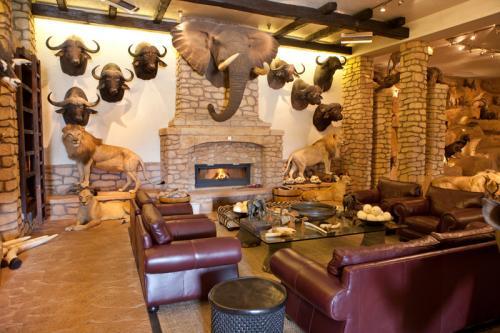 Elephant and fireplace
